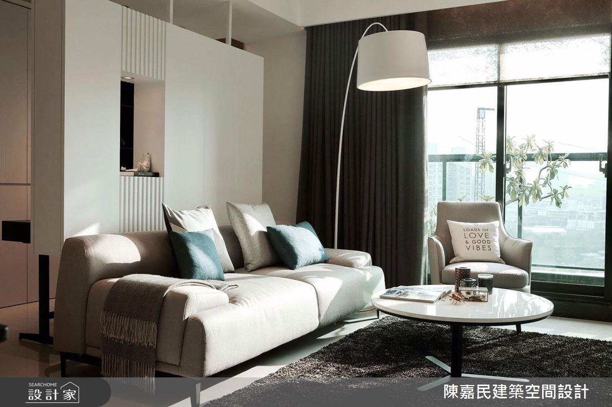 神奇懸浮牆讓空間多一處?時尚白x暖感木 營造40坪現代風居家的清新氛圍