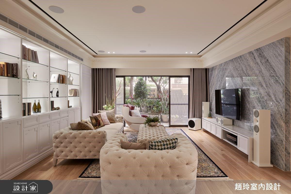 新古典中古屋比高級飯店更享受!打造精品收納牆、奢華主衛浴、清爽小庭院