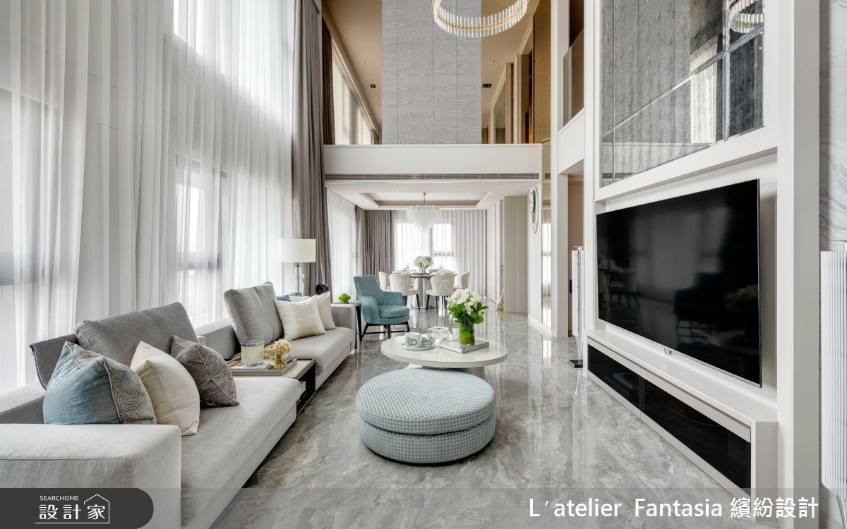 圓滑線的優雅流暢 音樂創作人的新古典樓中樓私宅