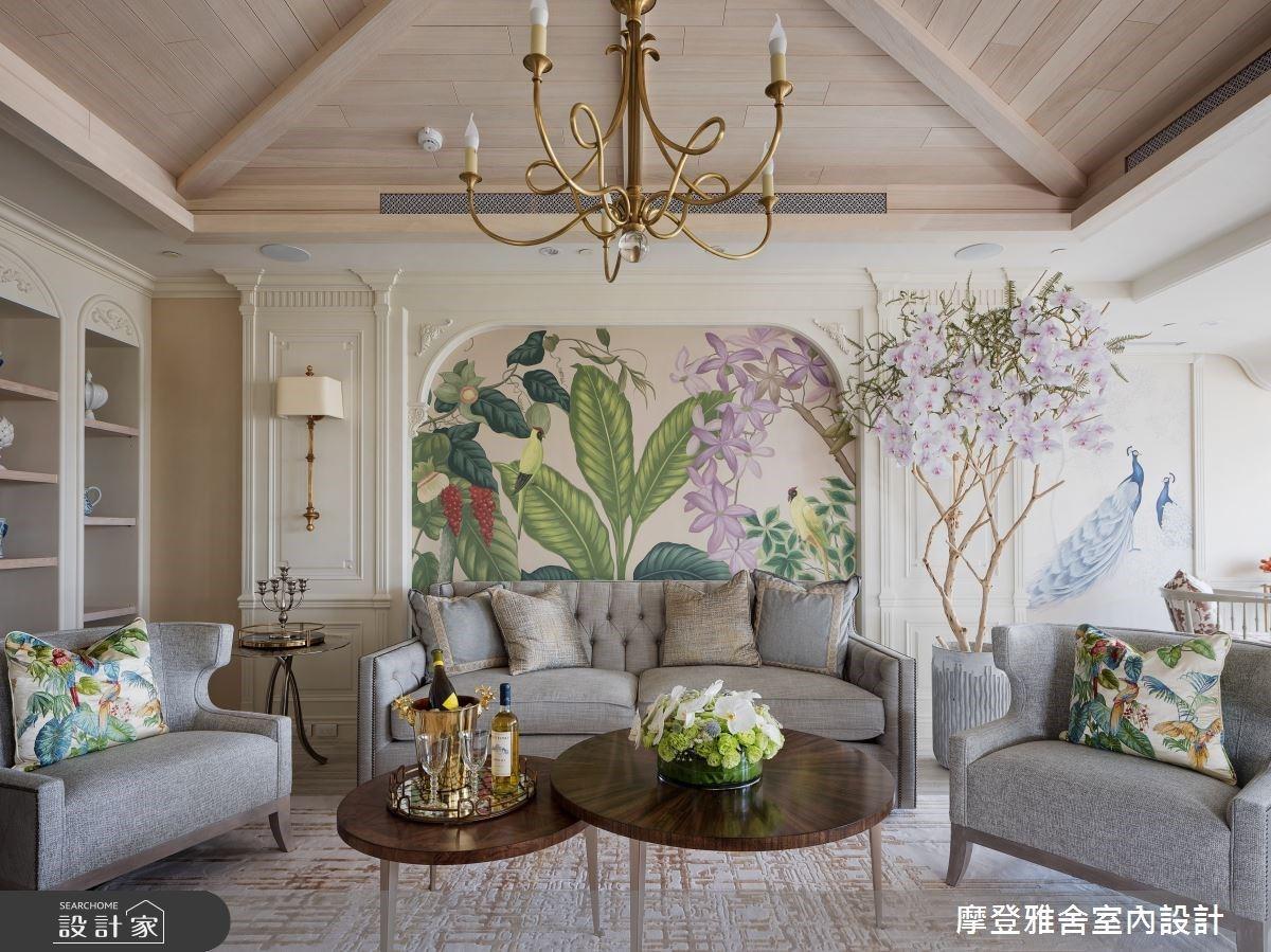 手繪打卡牆、空中花園帶你穿越到歐洲!為三十週年珍珠婚訂製的80坪法式度假宅