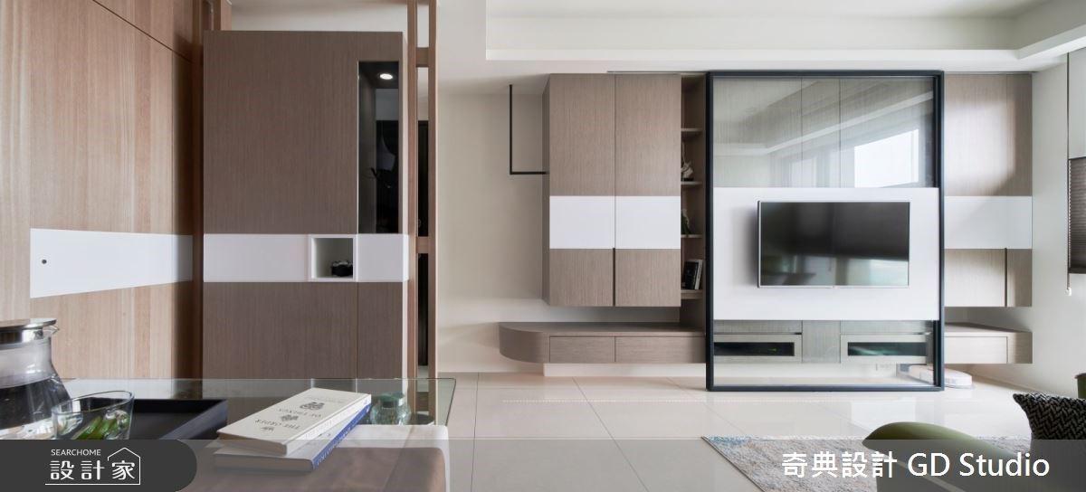 活動電視牆創造三種收納!實用機能讓義式現代宅生活更從容優雅