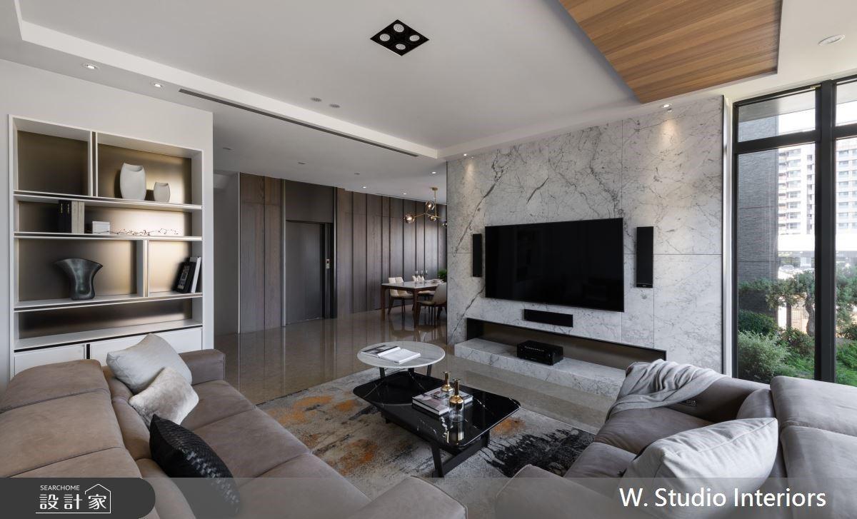 將綠意帶進150坪精品豪宅!石材與金屬勾勒現代風