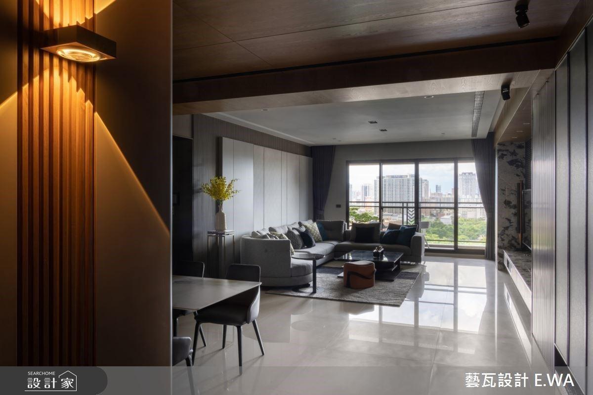 格柵設計與窗景伴著屋主從臥室甦醒!異材質徐徐述說現代豪宅的低調與從容