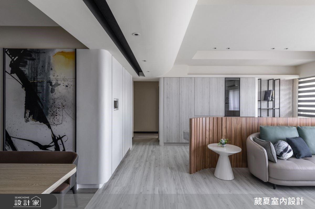 理性黑白VS.感性弧面!66坪時尚現代宅,一展大器視野與人文品味