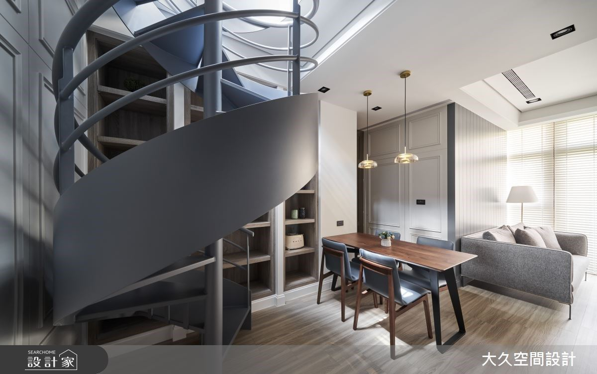 35坪英式風樓中樓,入住玻璃屋般夢幻的光感宅