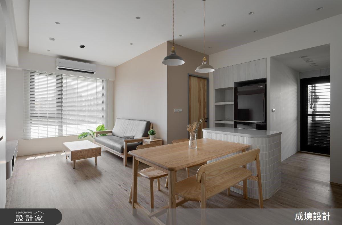 中島廚房開啟空間導航!木地板與系統板孕育北歐風格宅的親切感