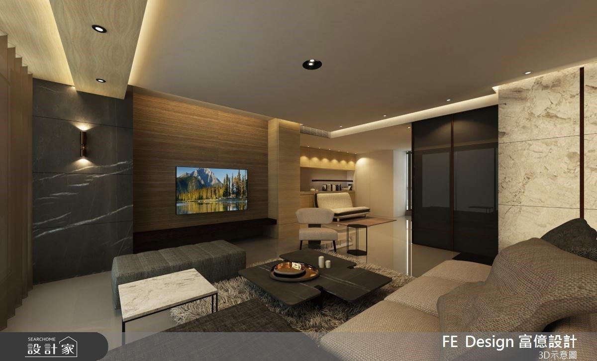 雙客廳配置走到哪都能放鬆!精準配燈詮釋現代風格宅的匠心獨運