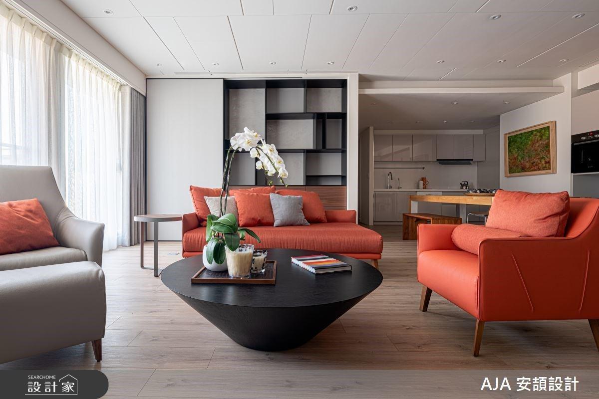 瀰漫愛馬仕橘的時尚香氣!36坪現代風精品宅,展現渾然天成的獨特與俐落感