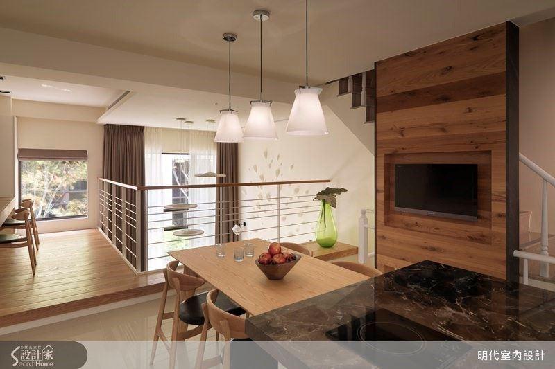 溫馨原木替透天別墅設計增風采!挑高客廳 x 陽光臥榻讓在家也能體驗休閒風情
