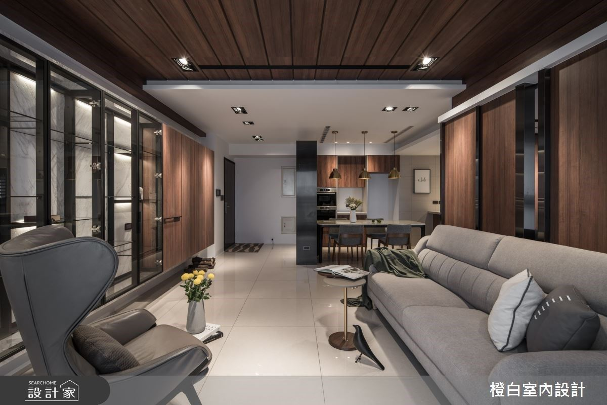 以木質、石紋構築低調奢華混搭風宅,3房2廳也能翻轉格局印象!