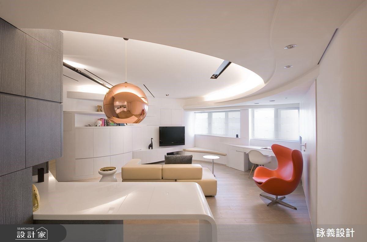 發揮流線式的剪裁設計!18.5 坪中古屋擁抱純白的簡約魅力