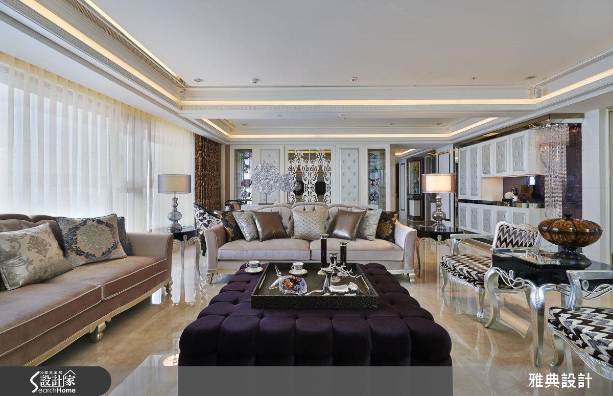 一窗一河景的新古典豪宅!隱藏收納客廳、渡假感主臥款待五口日常