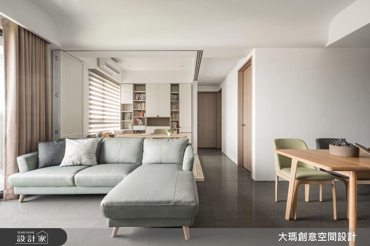 一房兼做書房+臥房!訂製開放式空間,讓北歐宅更彈性