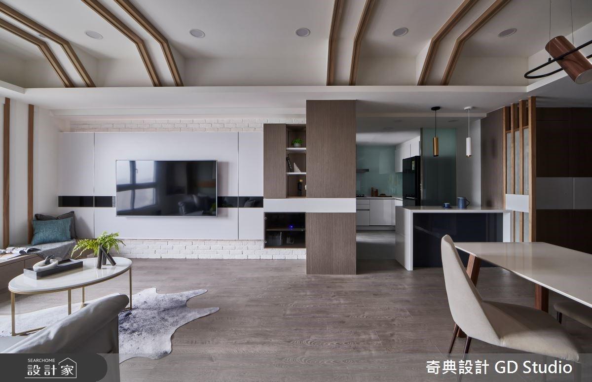 30坪享四房,還有窗邊臥榻、中島廚房!動線與收納打造一家五口夢想家