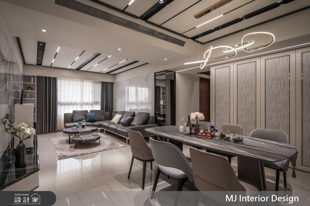 異材質拼接與活用鏡面放大術 創造精緻且時尚感的現代宅