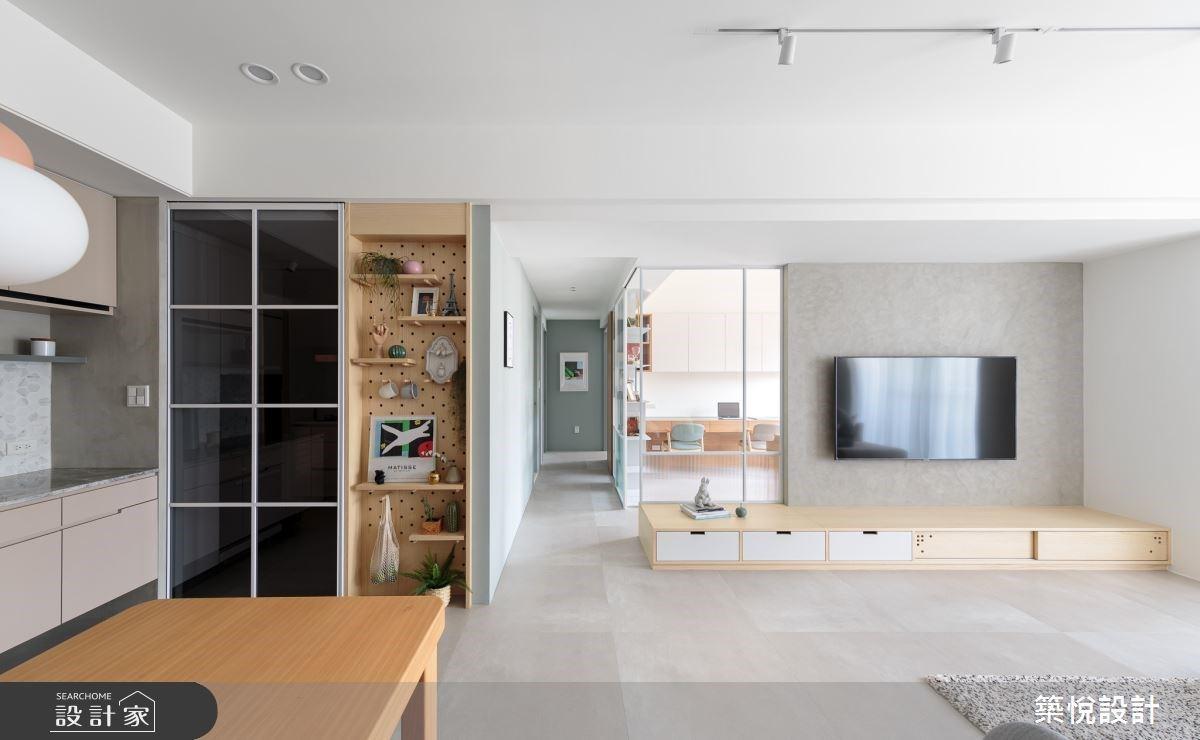 莫蘭迪色X洞洞板收納X玻璃隔間書房 北歐無印風私宅自動放大一倍