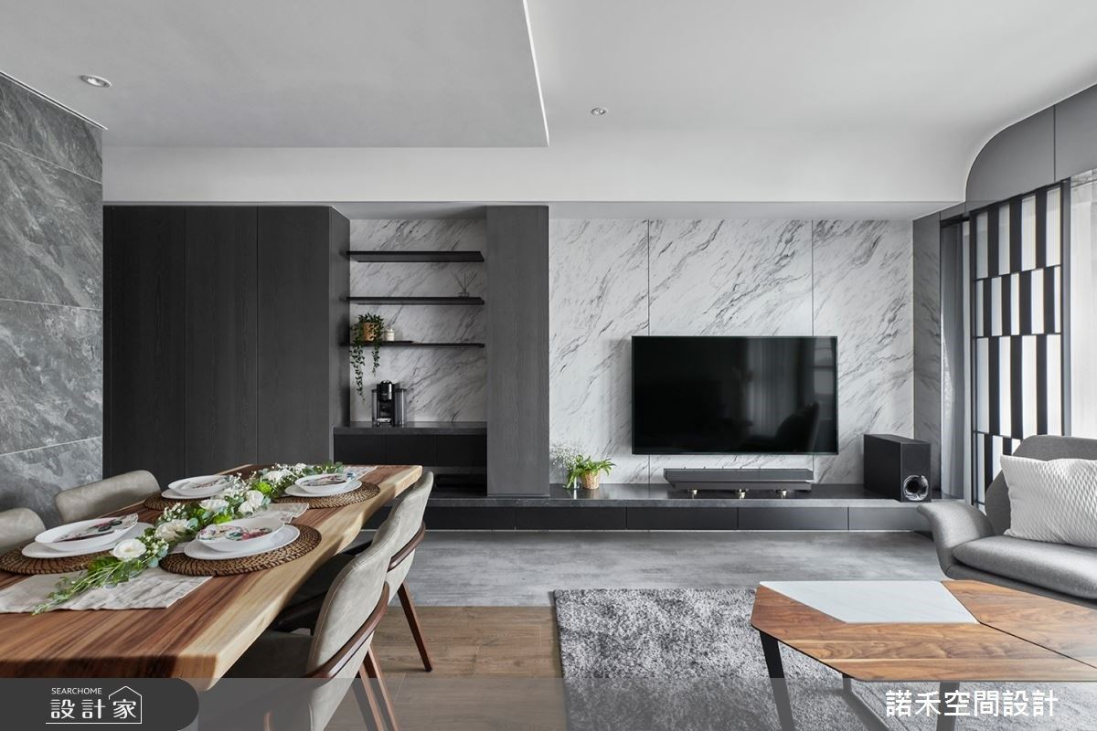 打開小坪數的大宅視野!以灰階打底,寫下19坪灰階現代宅的優雅與沈靜
