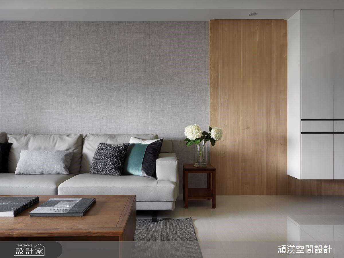 40坪現代風簡約宅,溫煦木質調+清新黑白灰演奏柔美的空間韻律