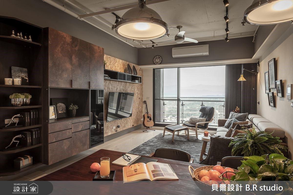 36坪暖心工業風宅,以鐵件、木質調共築質感空間!