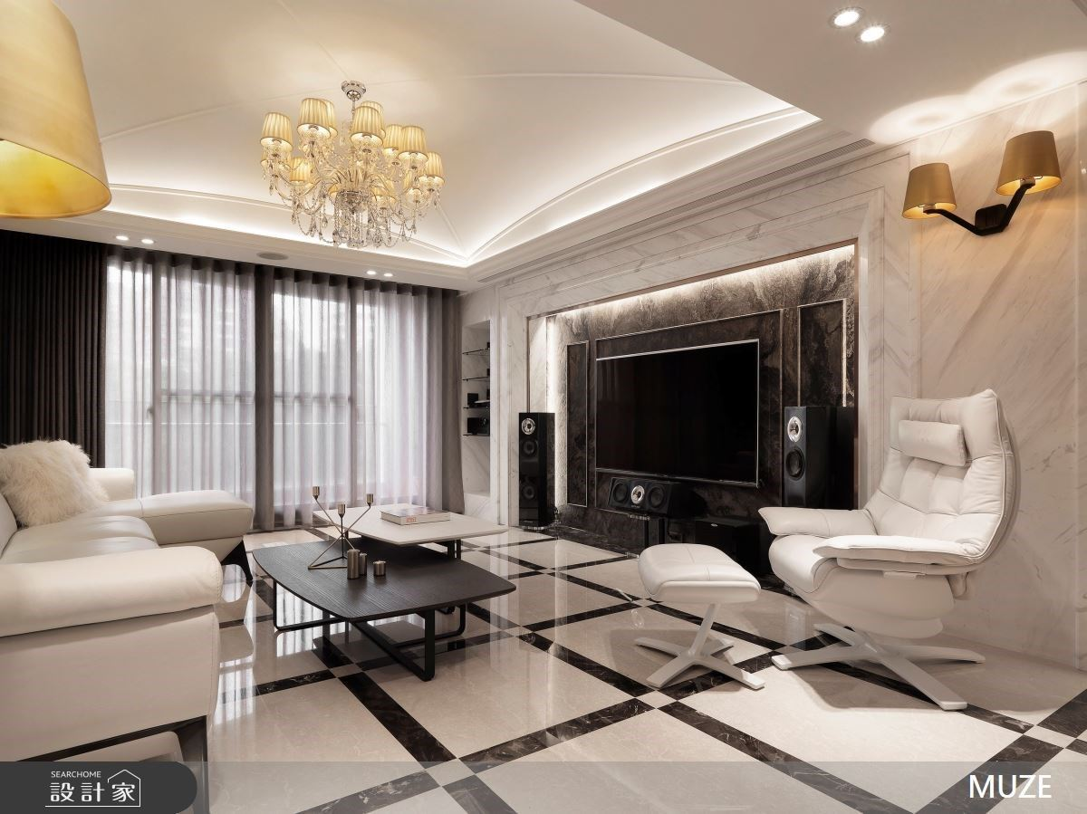 開放廚房、透明書房重塑格局視野!40 坪老屋再現奢華豪宅生活