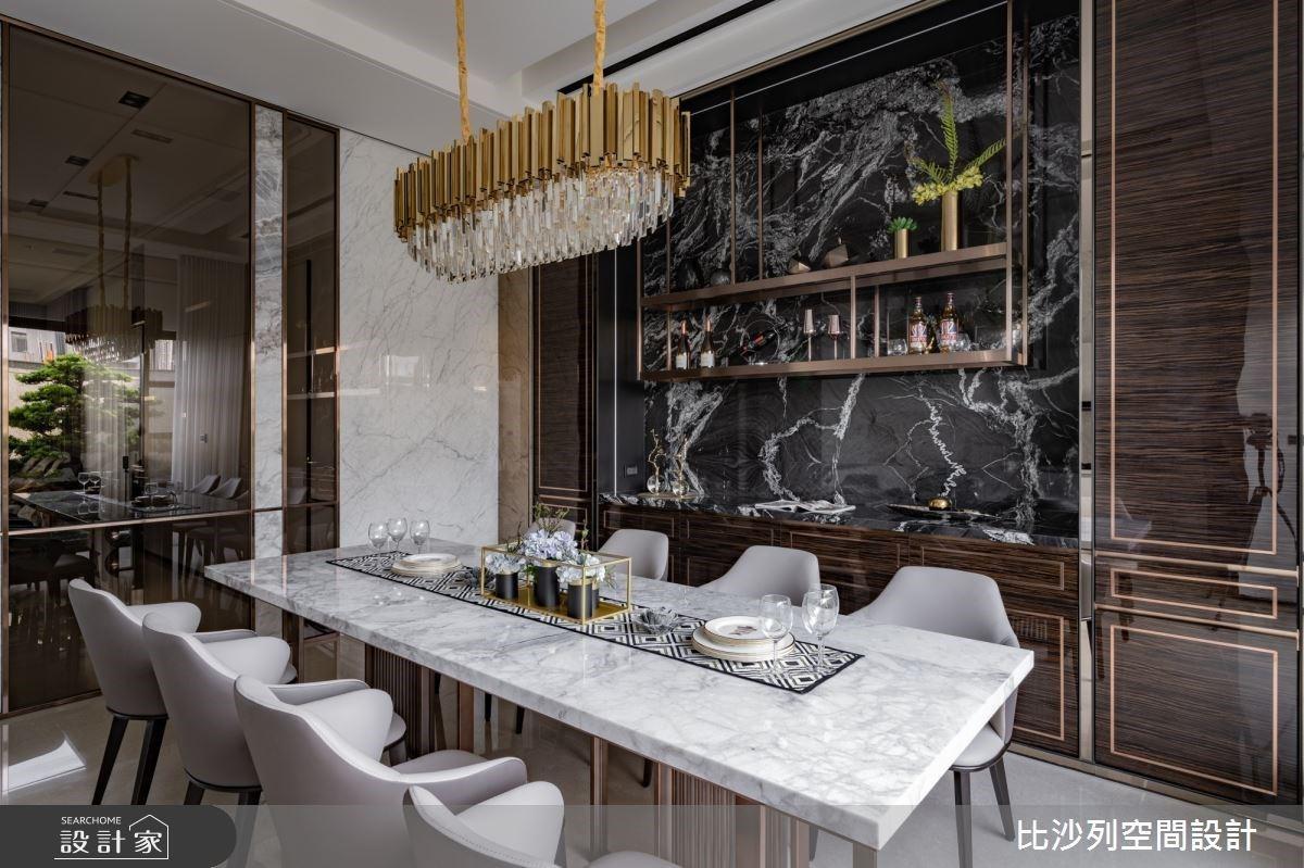從黑白系中島廚房美到景觀陽台!用隱藏設計襯托透天別墅的優雅步伐