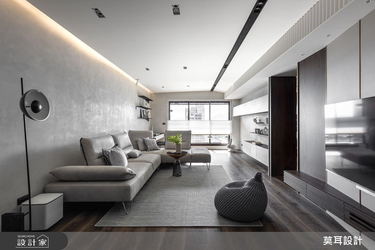 45坪精緻現代風宅,寬敞公領域凝聚一家四口的情感歸屬