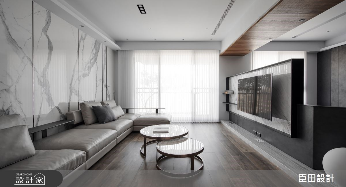 淨、透、暖!中島美廚X半高電視牆X海量收納,打造簡約設計現代風