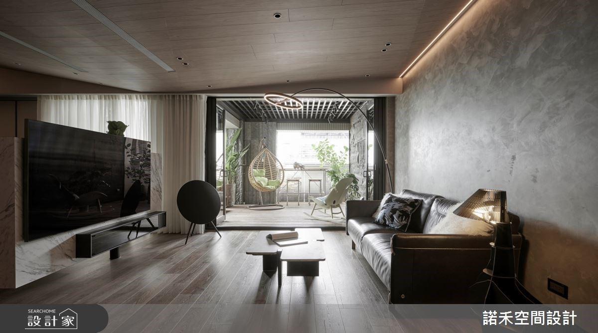 實現夢想中的大露臺與中島吧檯!混搭現代風與美式風的都會質感宅
