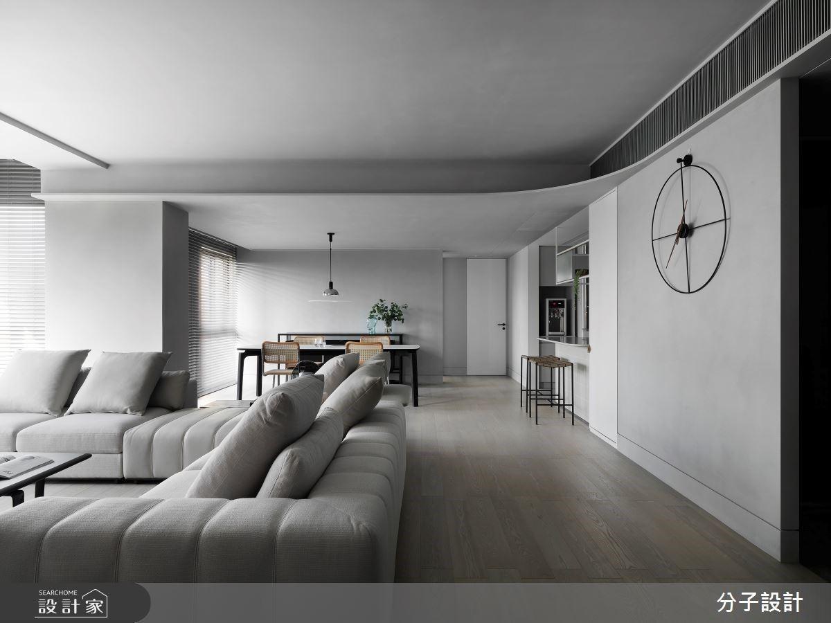 實踐北歐簡約精神!63坪中古屋大改造,引日光、暖灰交織經典現代宅