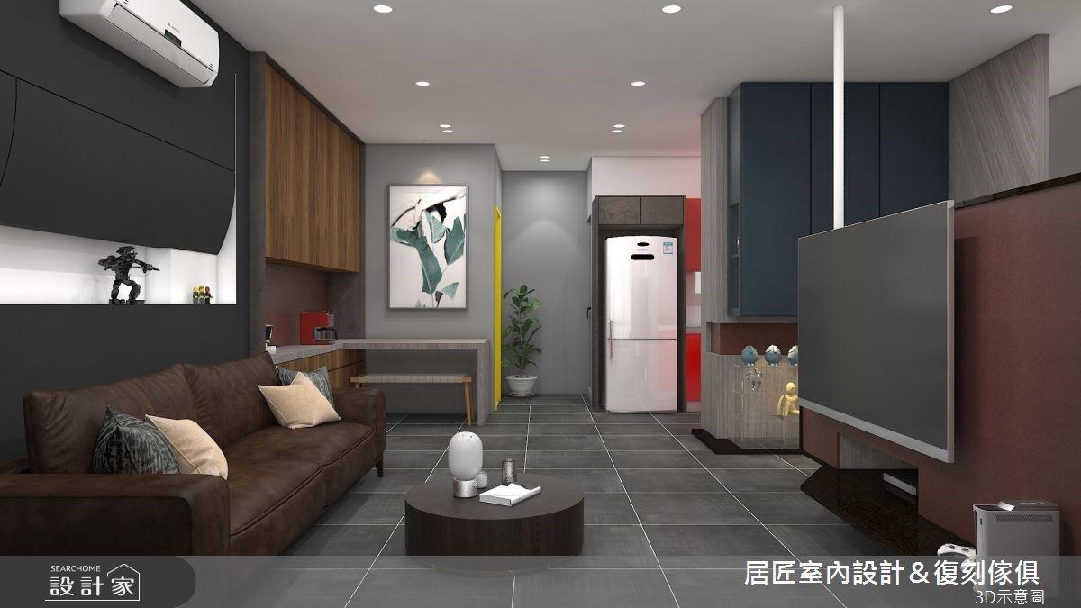 26坪理性灰輕工業宅,老屋改造出嶄新的生活軌跡