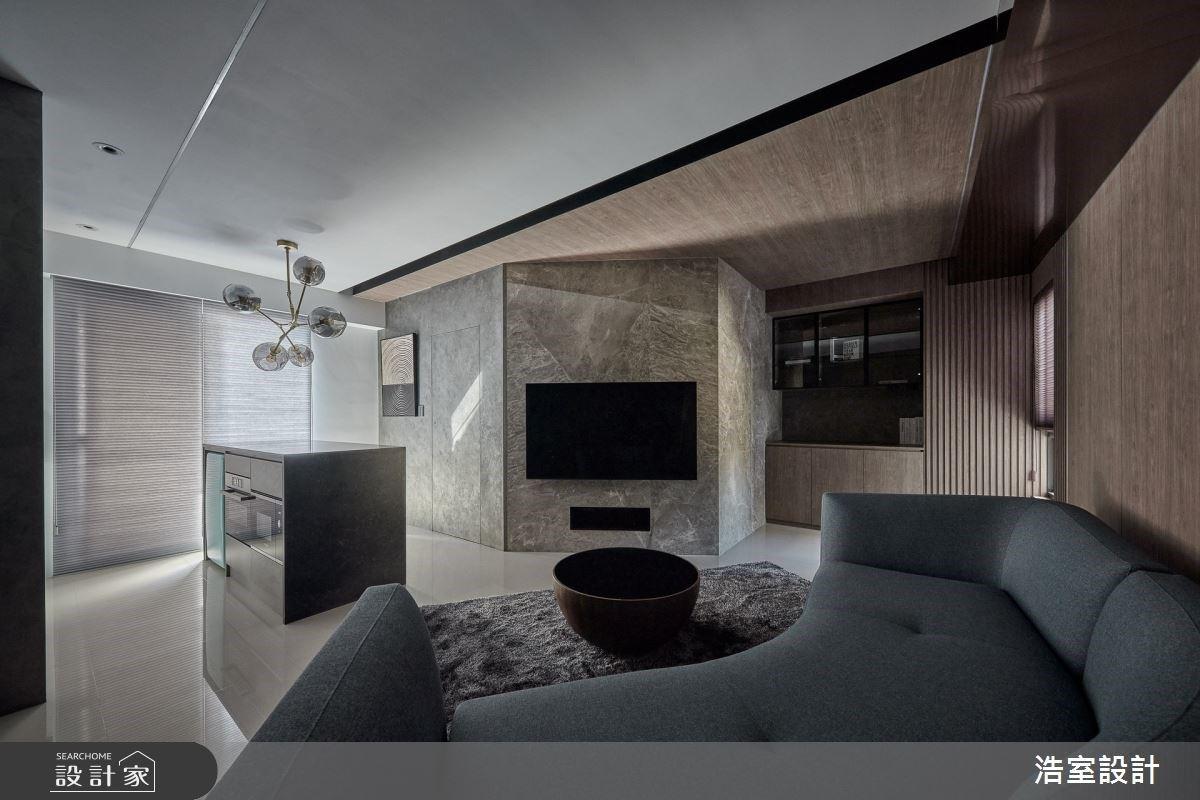 18坪的最大化!開放式客廳、中島走入應有盡有的現代風機能宅