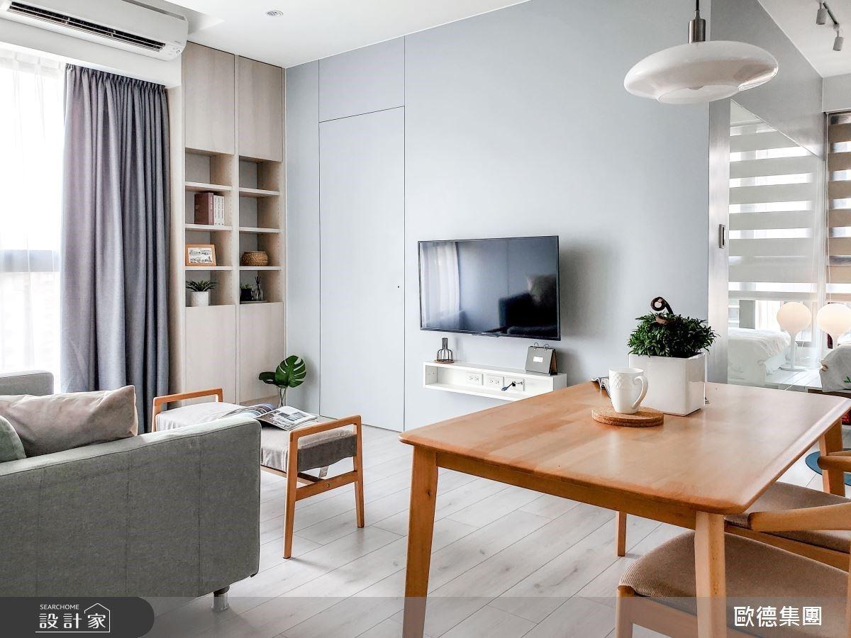 13 坪不只有 2 房的完勝收納設計!開放式廚房、健身空間都在藍色親子宅實現