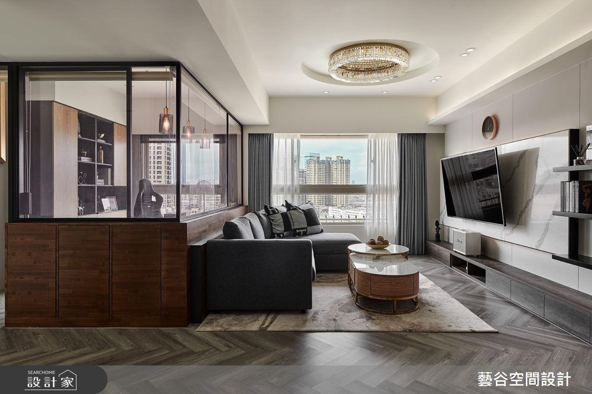 25 坪混搭風中古屋翻新!善用六角花磚、玻璃隔間,給你大空間的浪漫