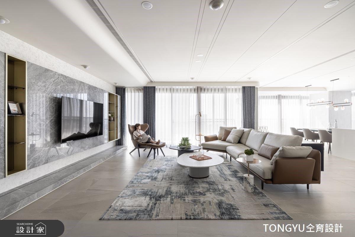 超大開放客廳與廚房中島!一個轉身,迎接寬敞明亮的現代風豪宅設計