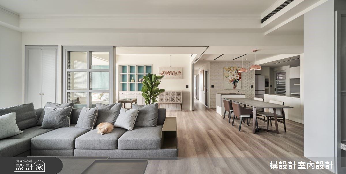 玻璃拉門為生活帶入更多可能!飄散芬多精的 50 坪美式風格宅靜享退休生活
