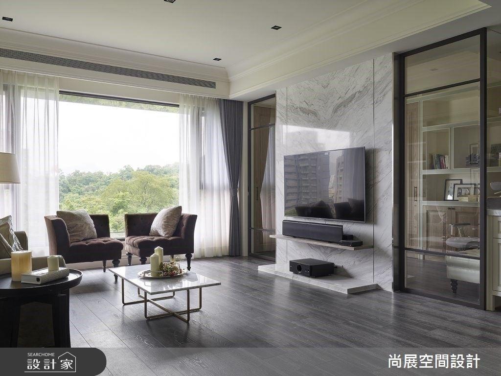 光與綠意一同陪伴的親子日常!美式風豪宅的高規格收納設計