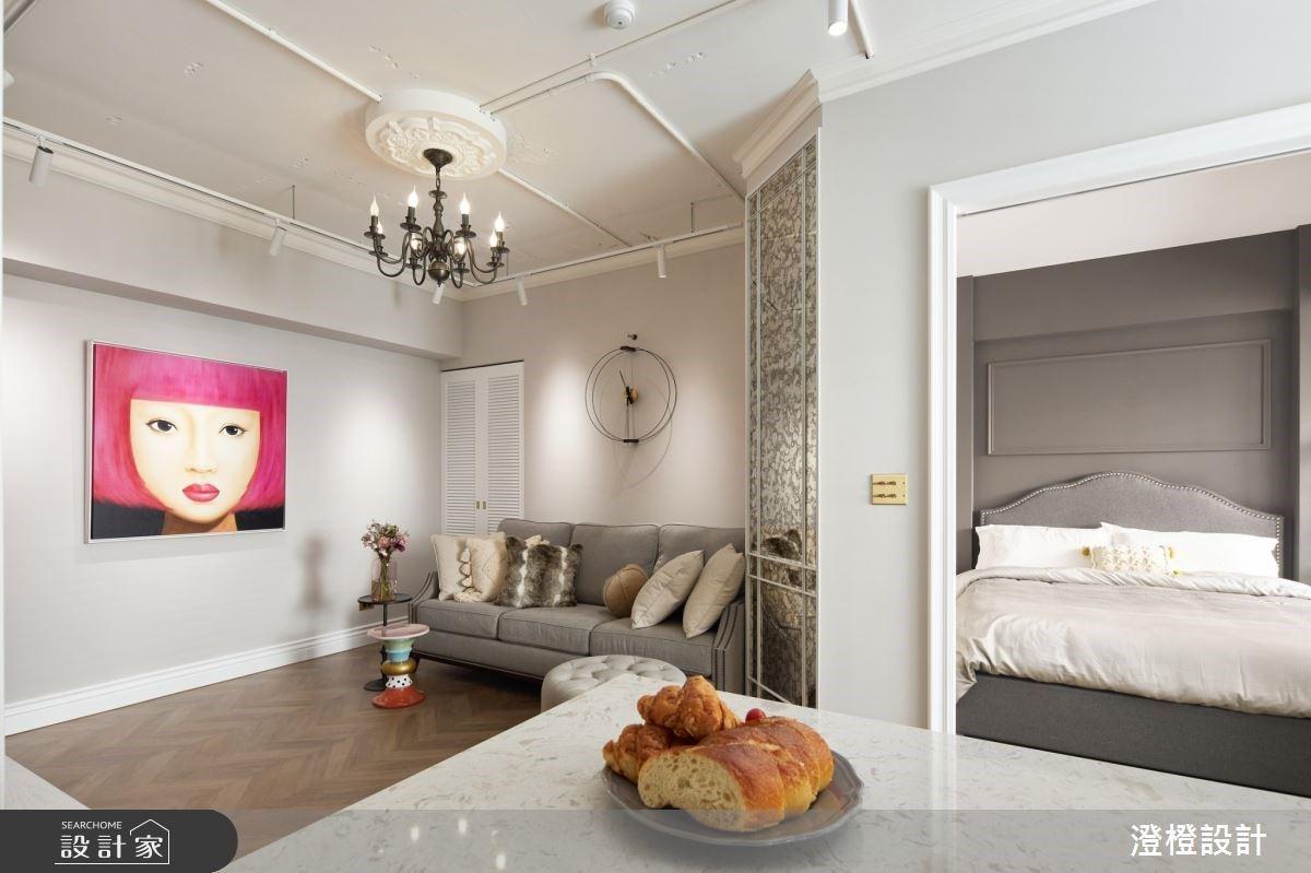 14坪能有1房1廳與開放式廚房?浪漫美式單身宅與你一同品嚐生活的細膩美好