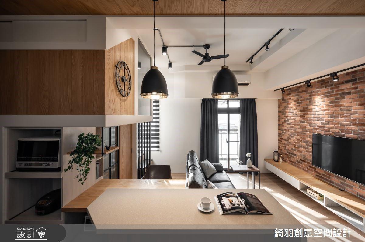 「重疊空間」讓小坪數瞬間Double!14坪打造極限的2房2廳Loft風宅