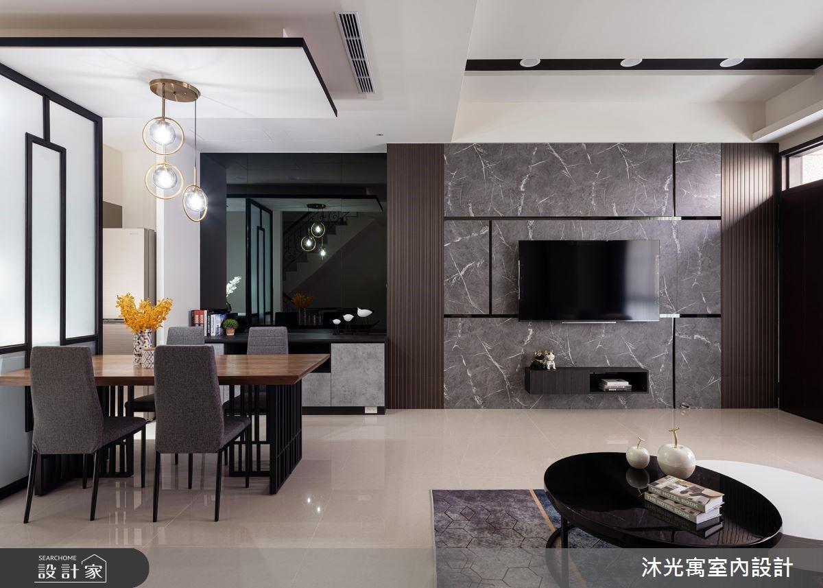 中古風換新風貌!混搭石紋系統、鐵件與鏡面,打造簡約質感的現代風透天厝