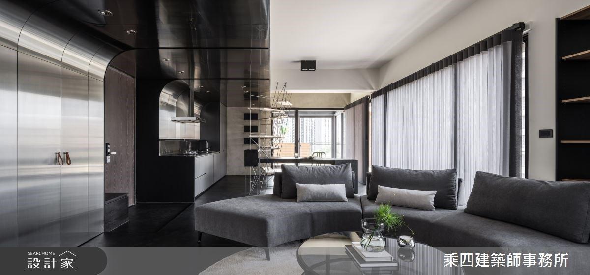 躺在床上,當個驕傲的抬頭族!走過現代風廚房與灰階臥室,享受城市中的慢生活