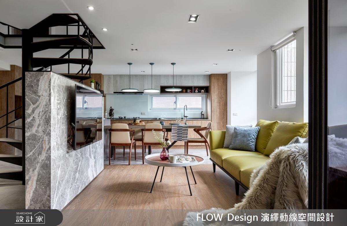42坪中古屋大進擊!夢幻斜屋頂X北歐複層宅 讓大餐桌充滿著一家三口的歡笑聲
