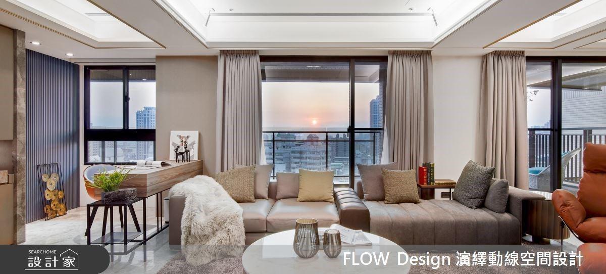 一輩子的辛苦都值得了!陽台遠眺城市夜景、高檔宴會廳擺席,迎接幸福感的66坪大器現代宅