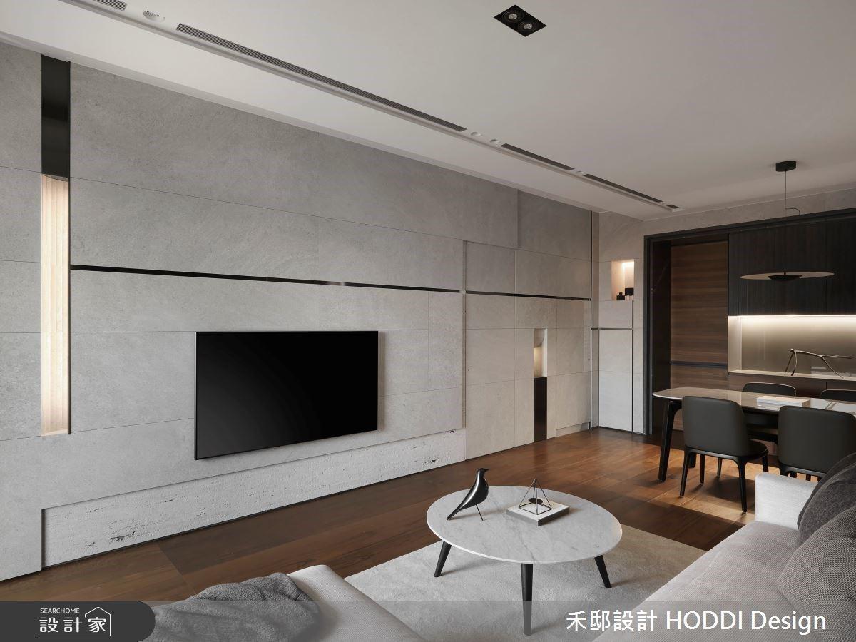 線與線之間勾勒設計感 灰黑白與柚木的現代宅