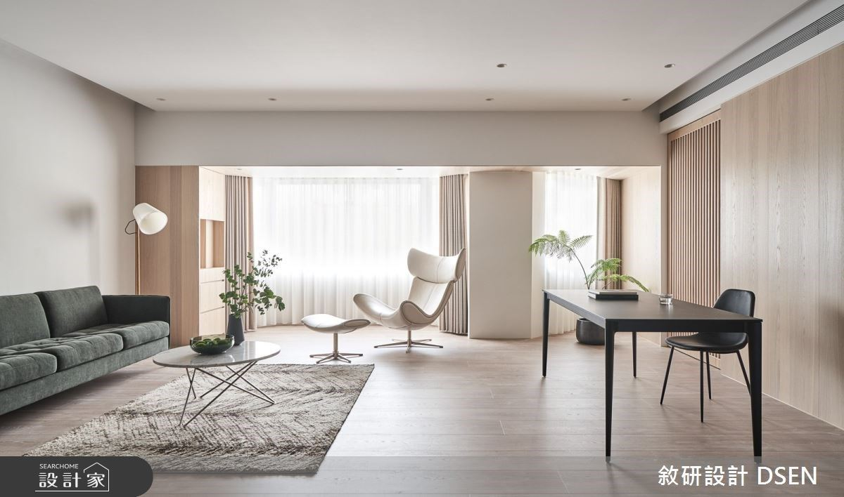 一同沐浴於日光、植栽下!翻新40坪老屋迎來現代風的極簡居家