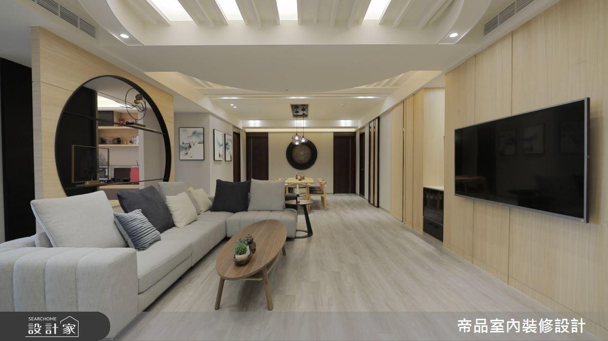 新東方風邂逅寧靜日式感!圓弧開創虛實之美,大器而優雅的53坪人文大宅