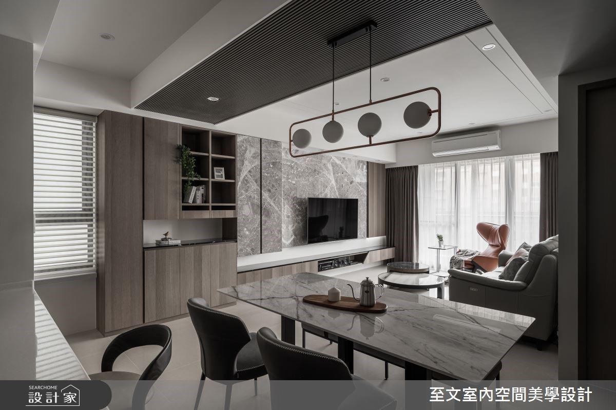 用灰階速寫家的美好!33 坪現代風住宅用冷色建材構築空間的暖