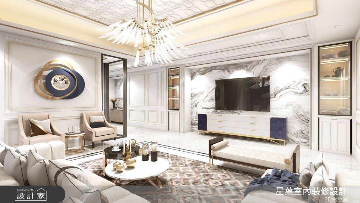 175坪以美式新古典擘劃豪宅風格,戶外庭院+露天水池 相得益彰!