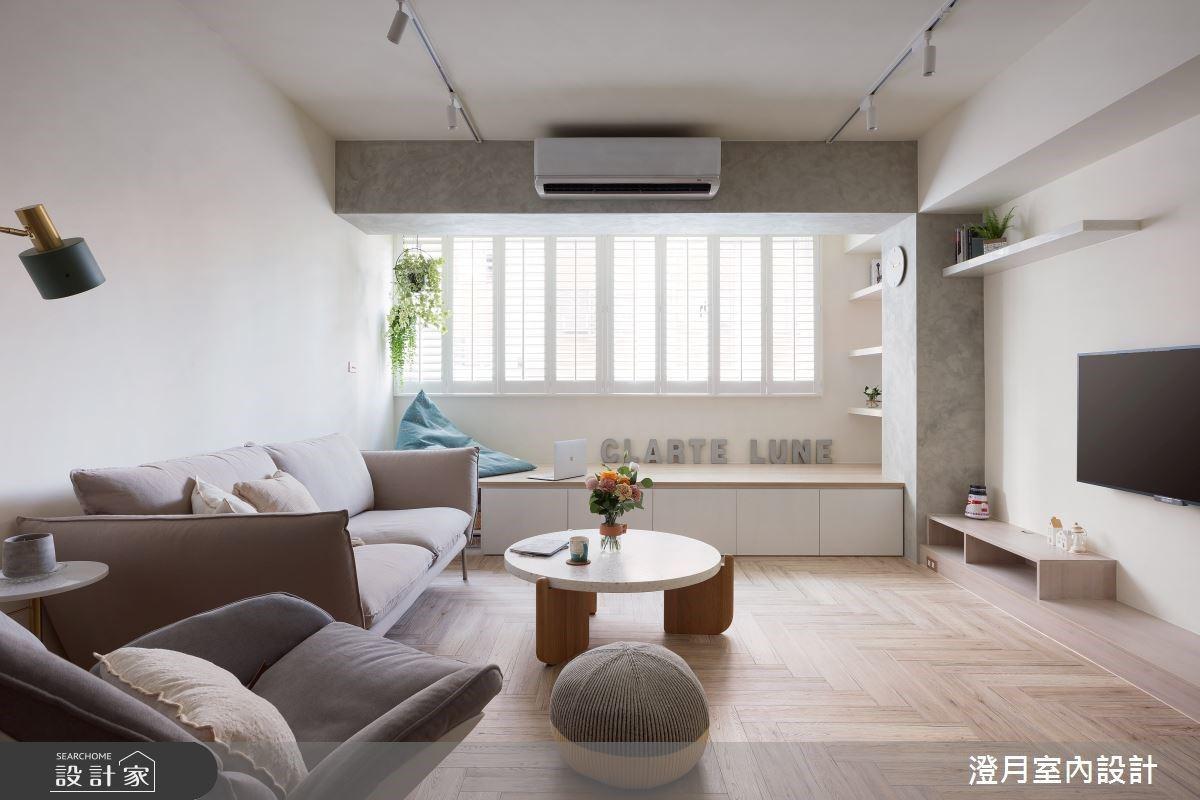 把空間變大、機能收納UP! 35 坪清新系北歐宅為小家庭圓夢