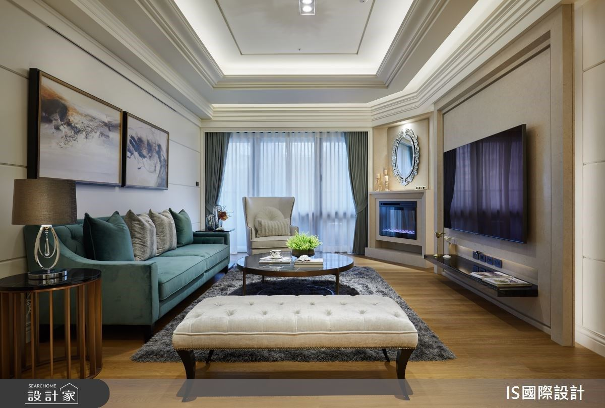 我家就是風格旅店!線板與造型櫃體刻劃美感與舒適度,形塑開闊氣派美式古典宅