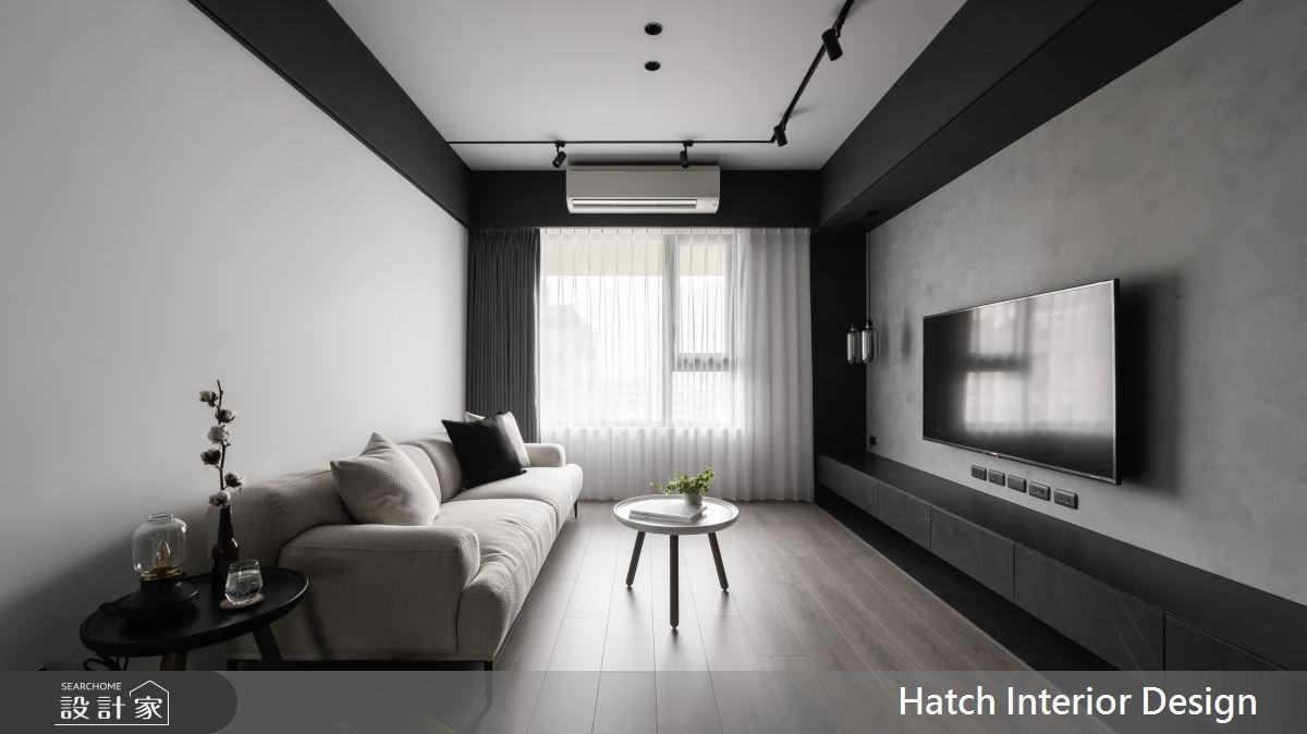 簡約黑白灰打造立體層次!勇敢減一房,還給27坪現代宅無限自由的空間感